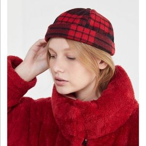 Urban Outfitters Plaid Cuffed 5-Panel Hat